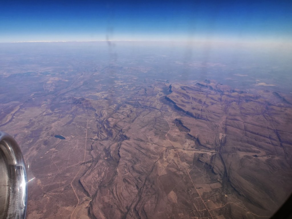 Africa's contours as seen from the plane