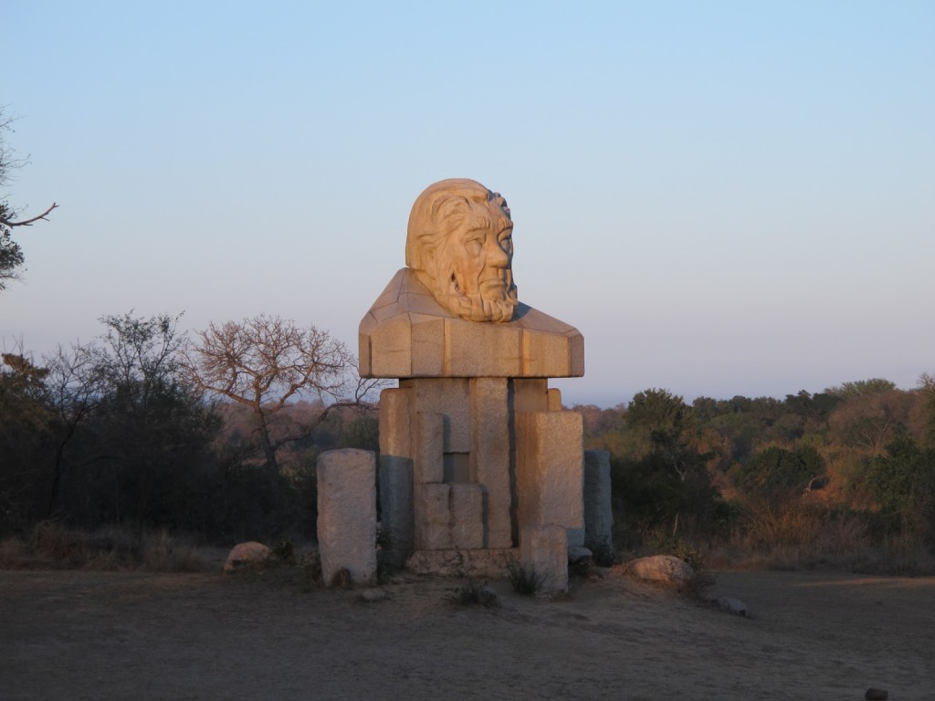 President Paul Kruger statue at the entrance of the park