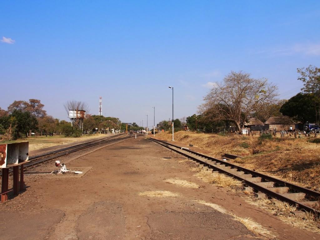 Railway track that runs through this town