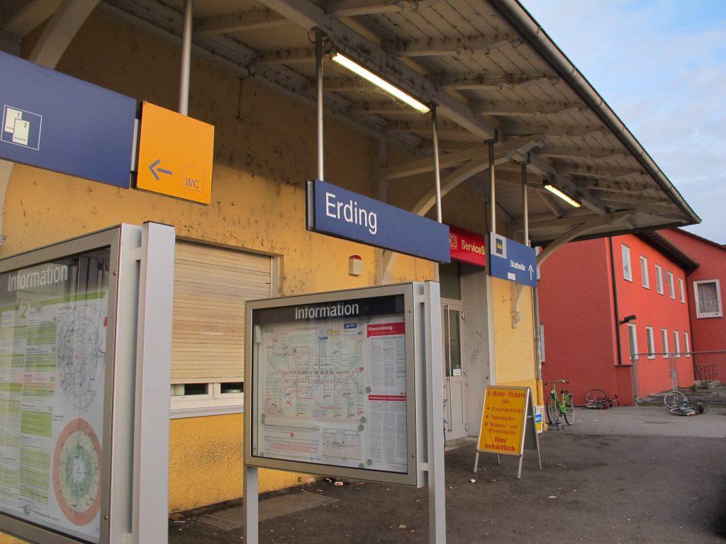 Erding station.