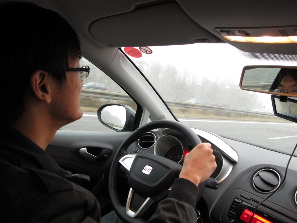 My first time on the Autobahn.