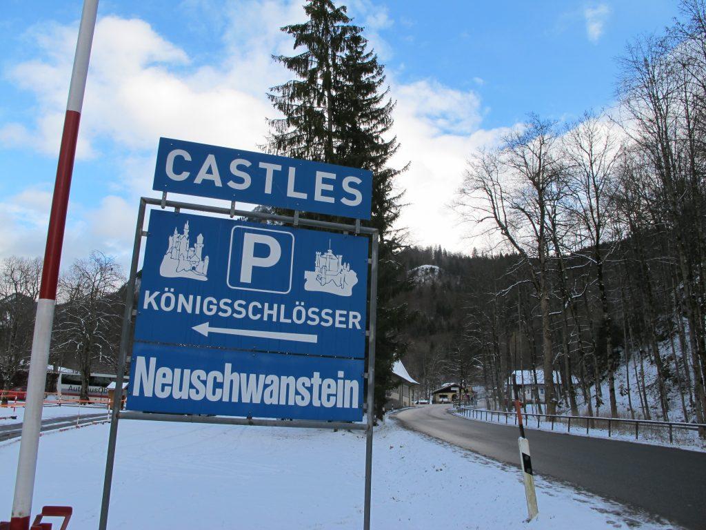 Parking at Neuschwanstein.