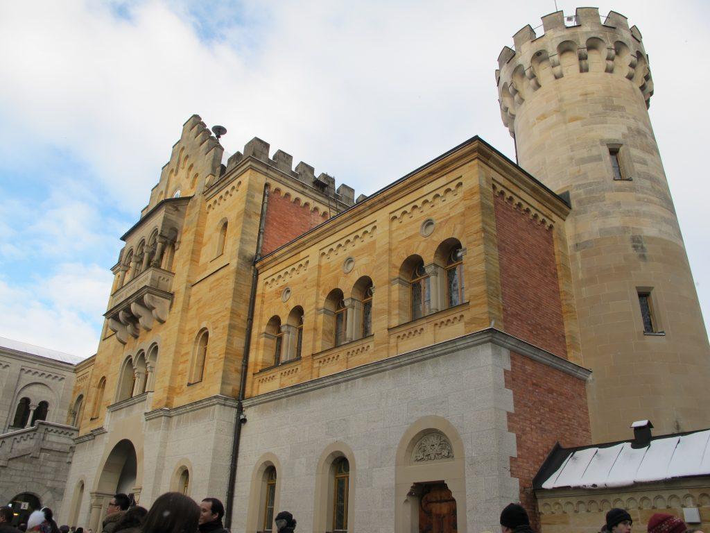 Before entering castle.