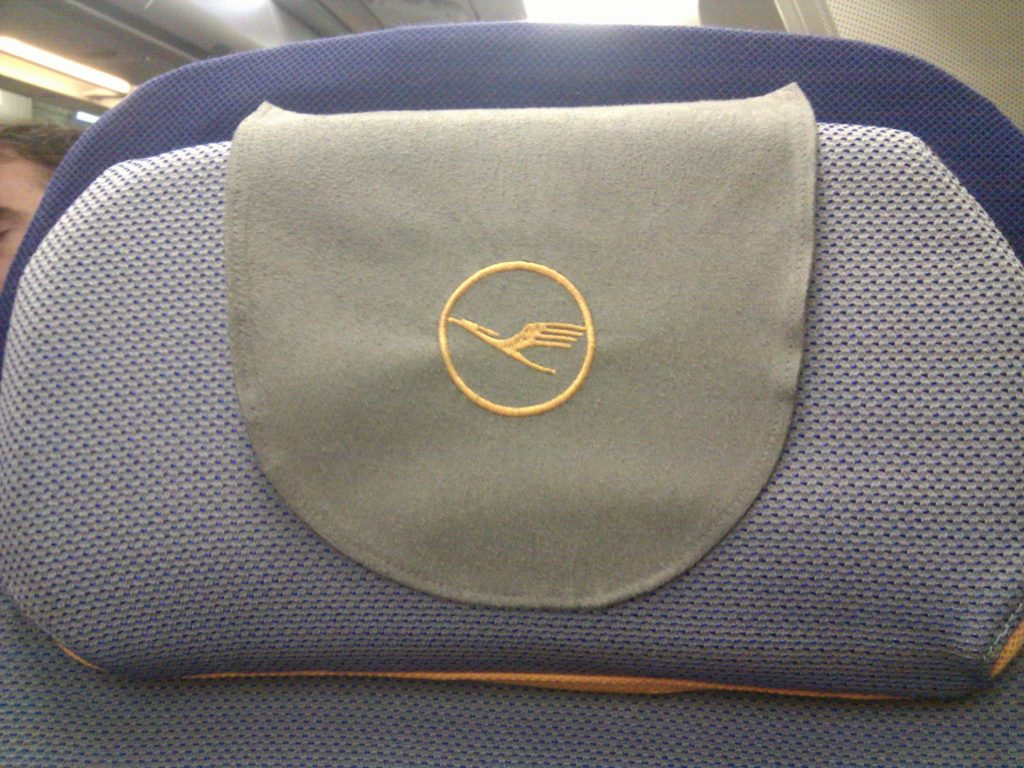 Aboard Lufthansa.