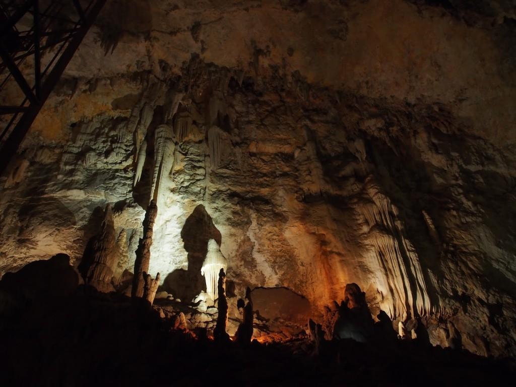 One such stalagmite that grew like a mushroom