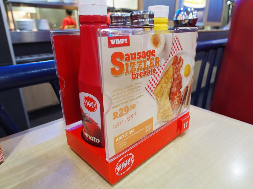 Dinner at Wimpy