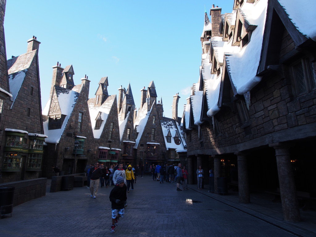 Streets of magic land of Harry Porter.
