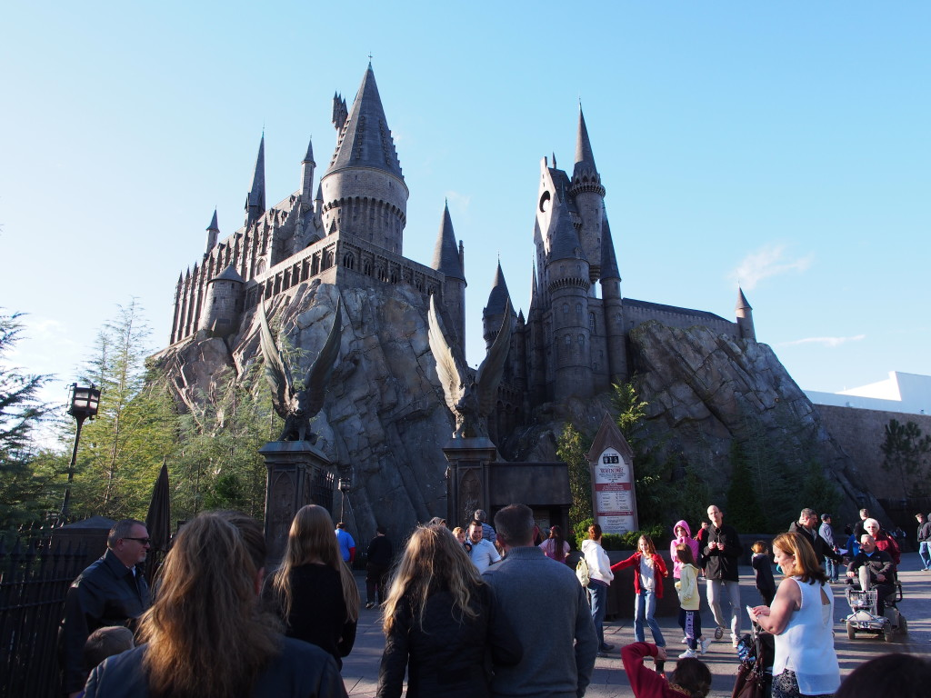 Hogwart with the simulator ride.