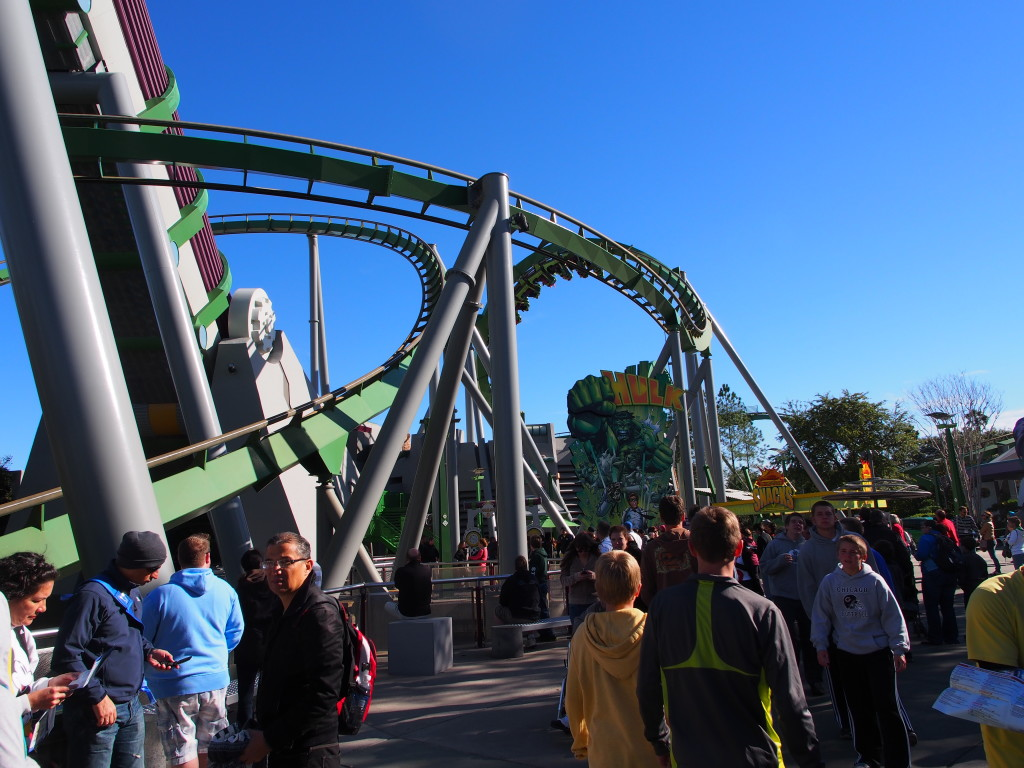 Hulk roller coaster.