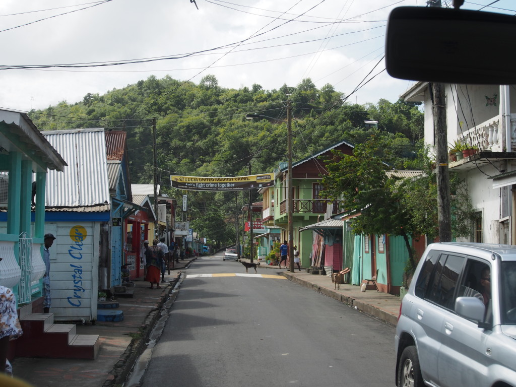 Streets of St Lucia.