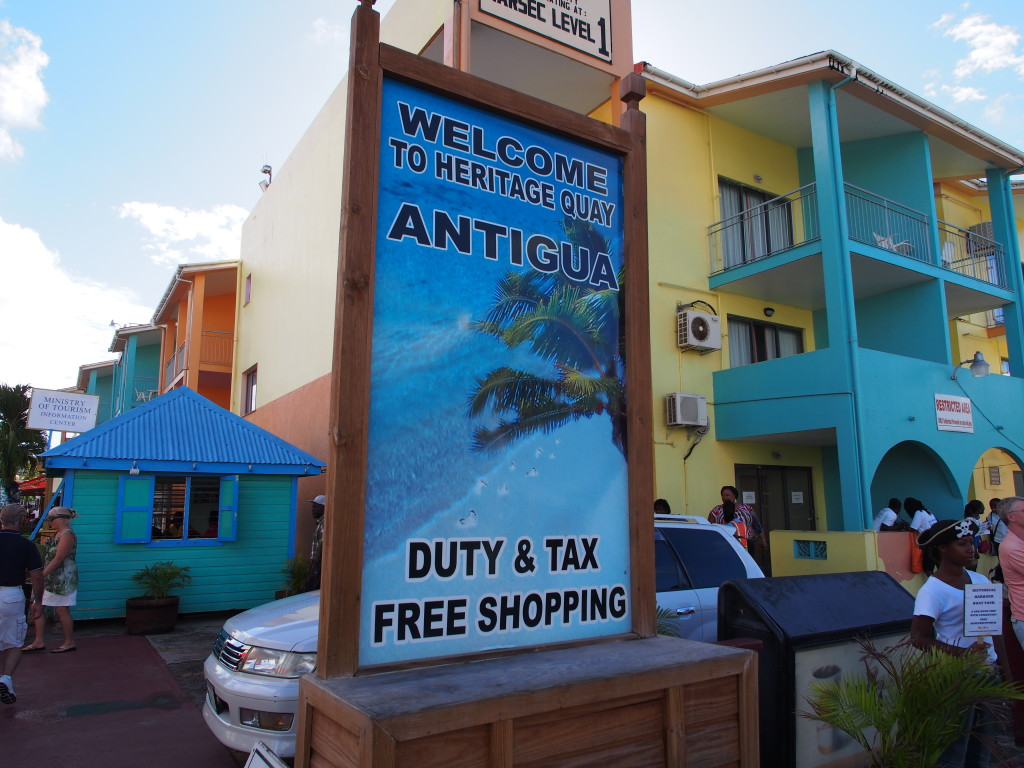 Welcome sign to Antigua.
