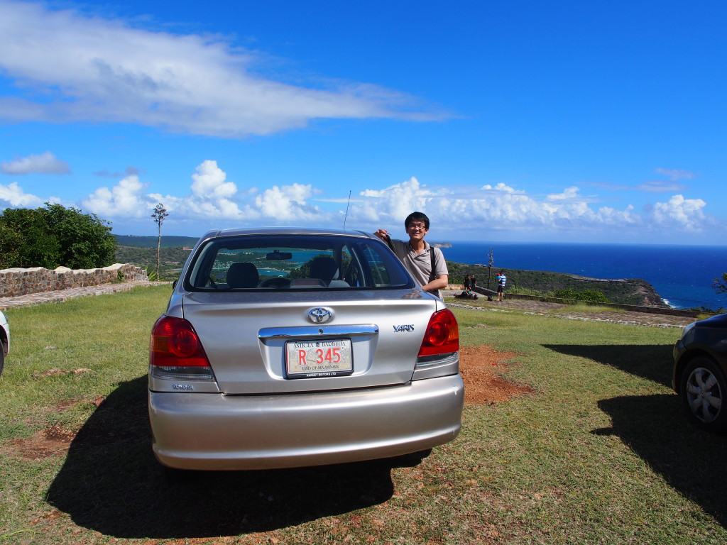 Our ride in Antigua.
