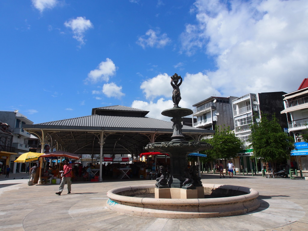 Fountain in front of the market.