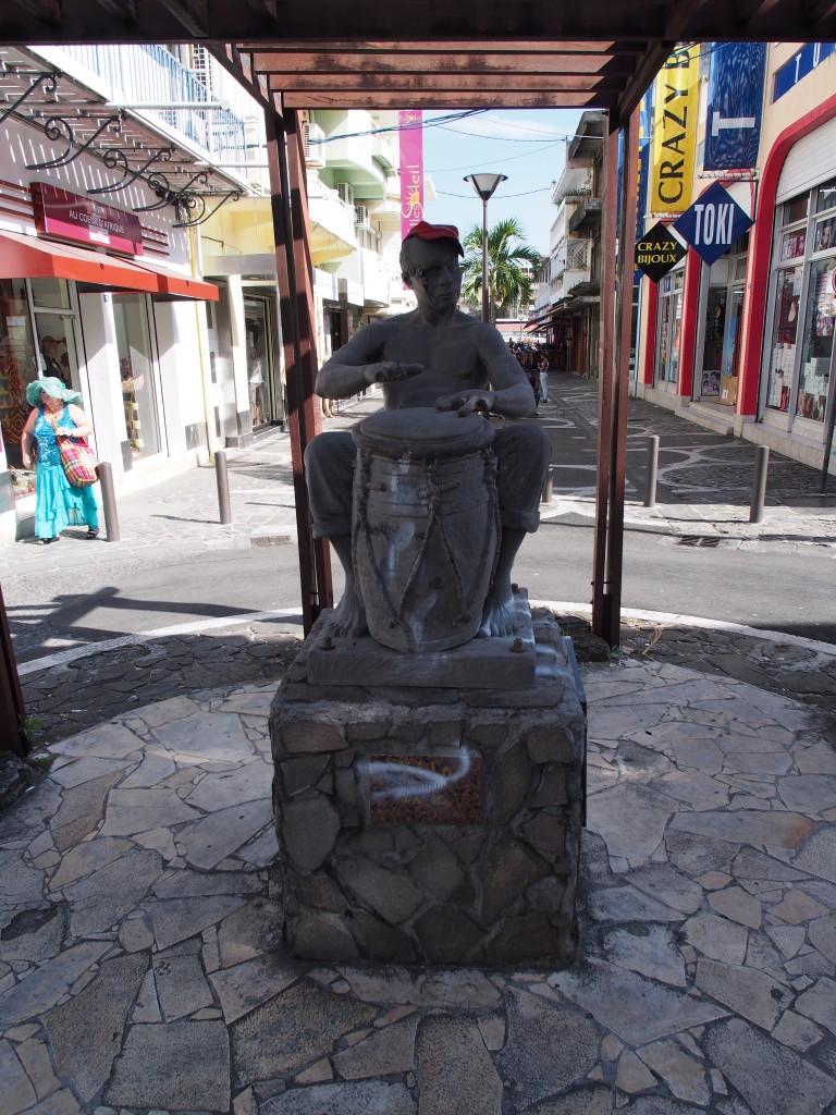 Drummer boy statue.
