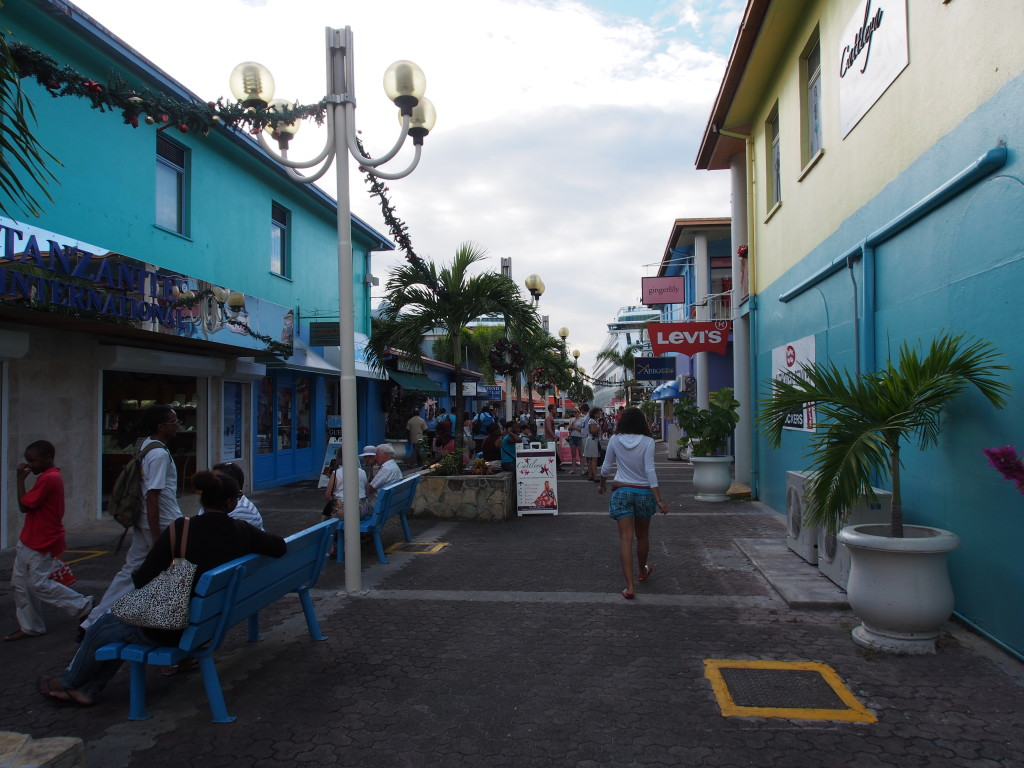 Antigua shopping street.