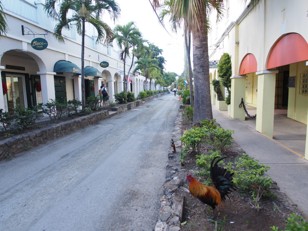 Shopping in Christiansted.