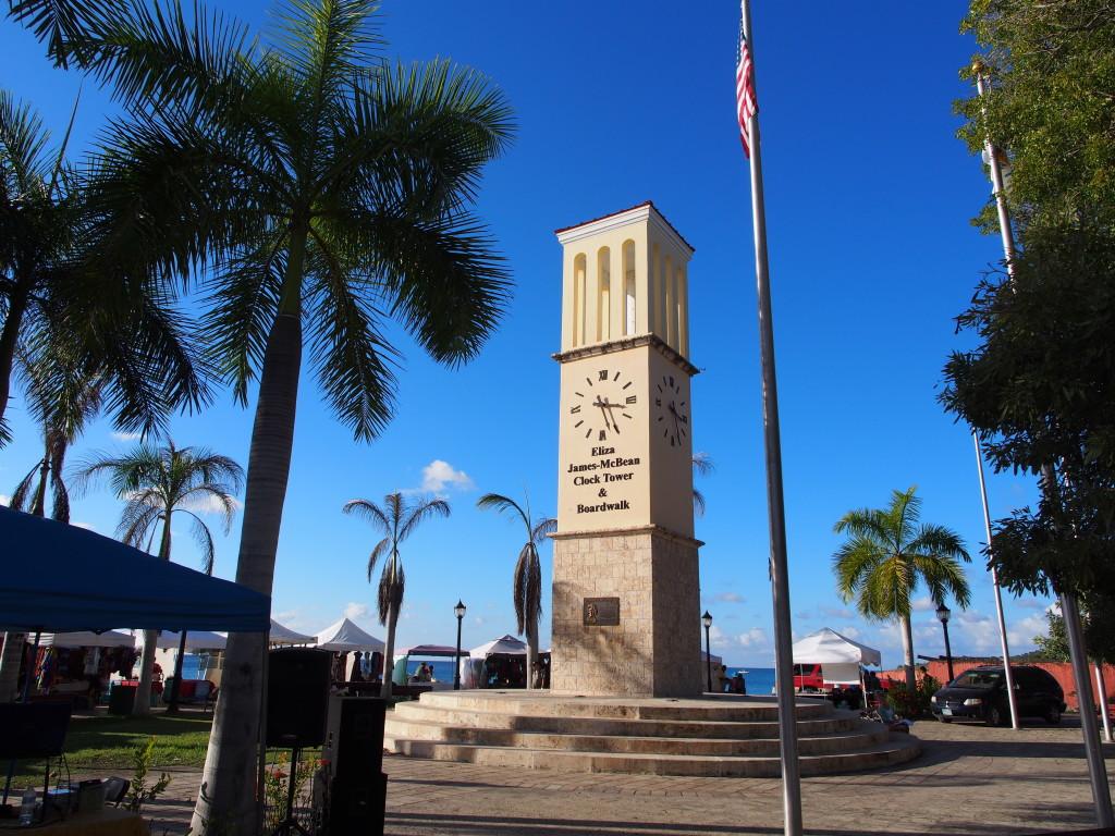 Clock tower near the pier.