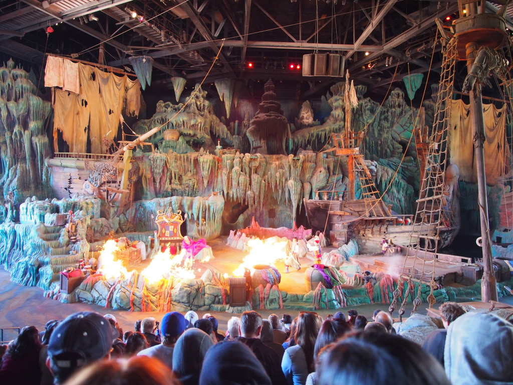 Watching Sinbad rescuing the princess with real flames -  we could feel the heat!