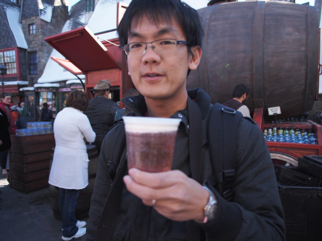 Of course I had to have the Butterbeer.
