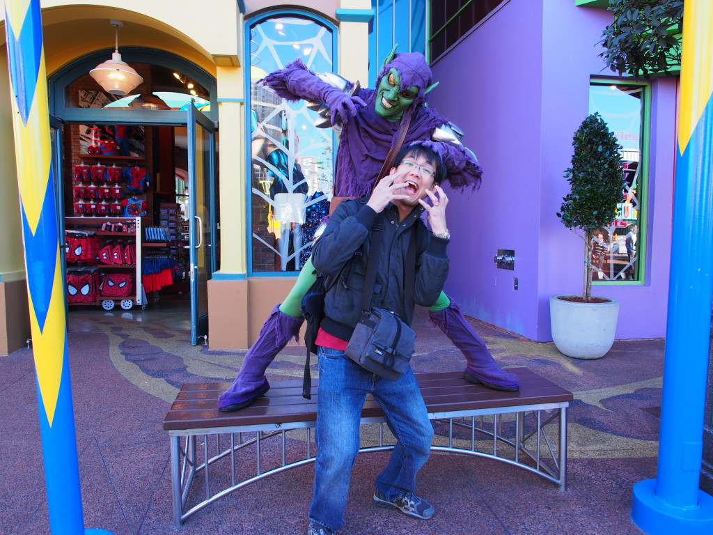 A photoshoot with Green Goblin.