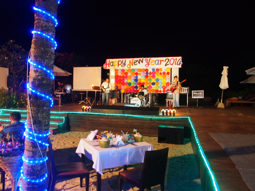Stage set for Gala dinner.