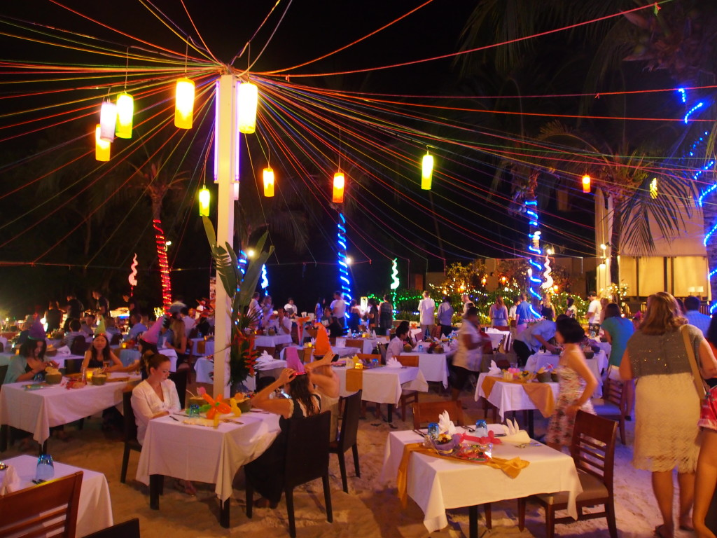 Dinner under the stars and on the sand.