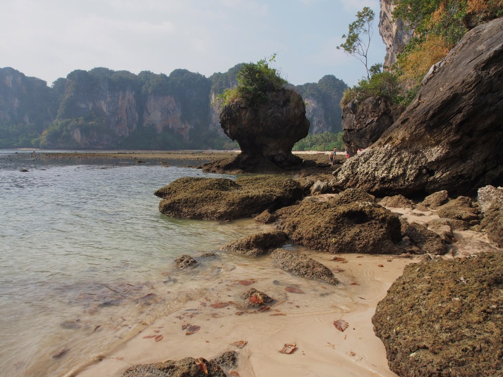 Stone exposed, in between Railey West and Tonsai beach.
