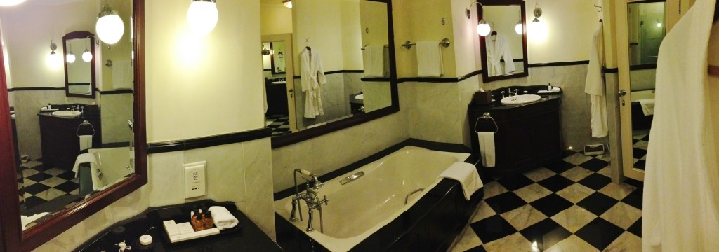 Bathroom that requires a panorama.