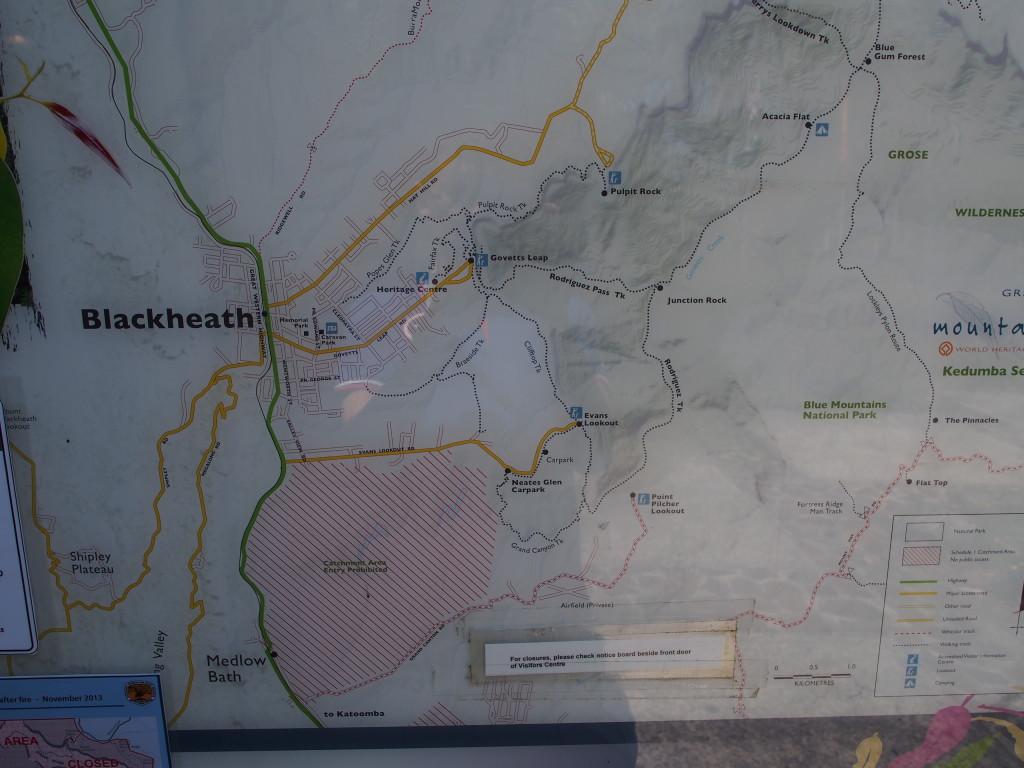 Map at Blackheath.