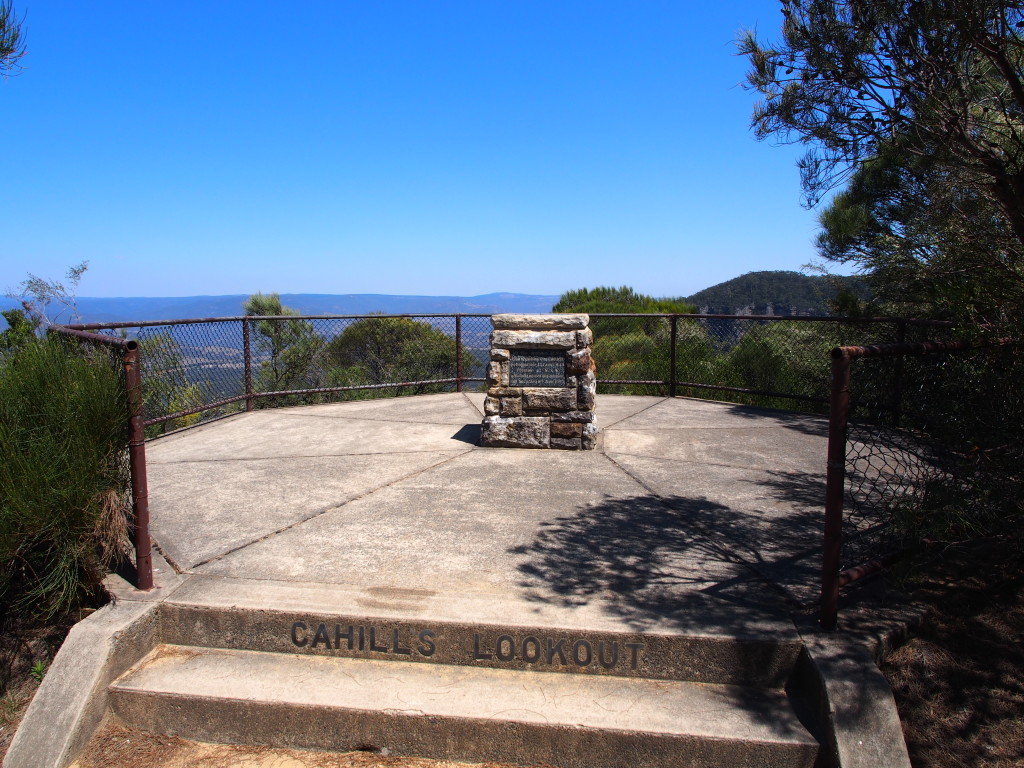 Cahill's lookout.