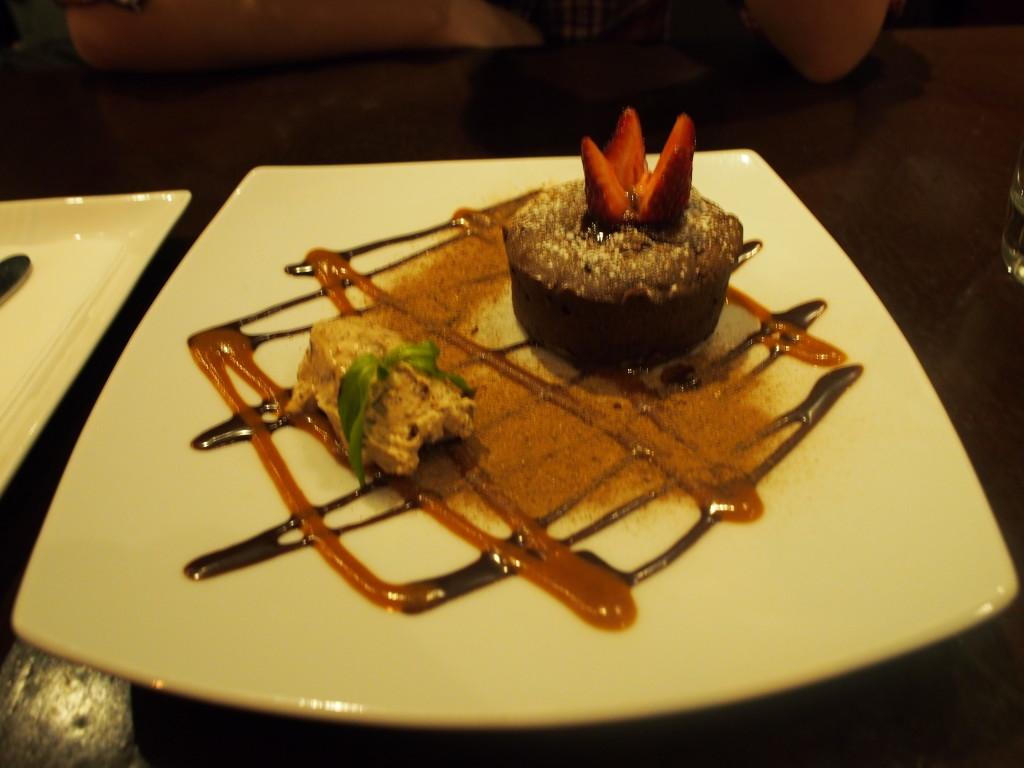 Choco cake desert.