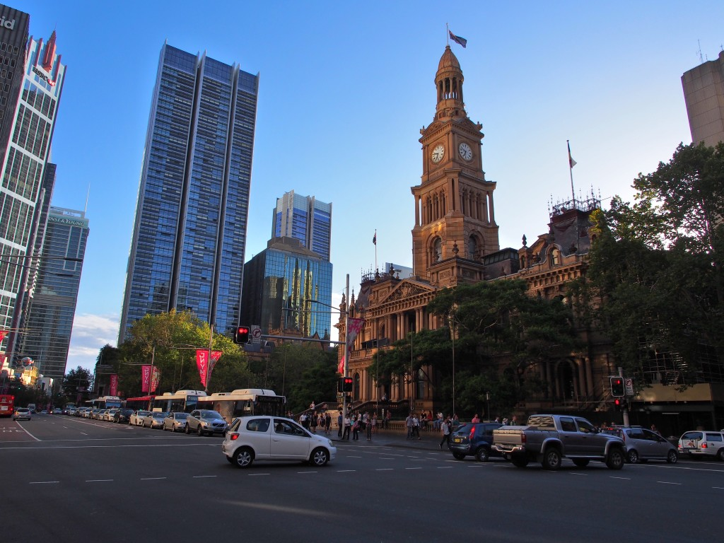 Sydney city in the evening.