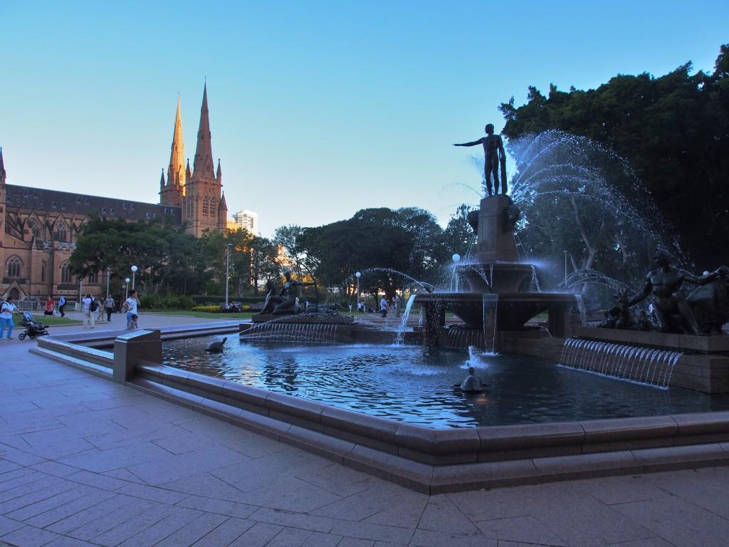 Fountain in Hyde Park.