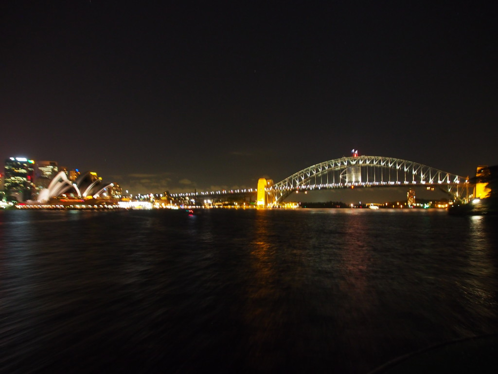 Night view when we returned from Manly.