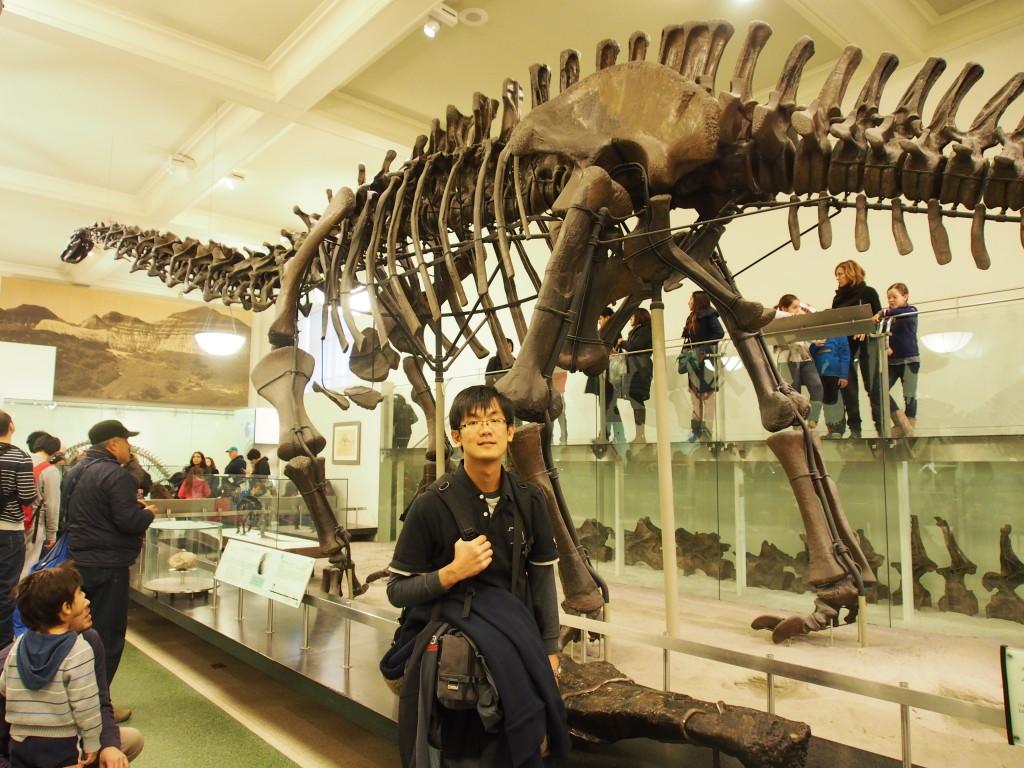 Me in front of ancient bones.