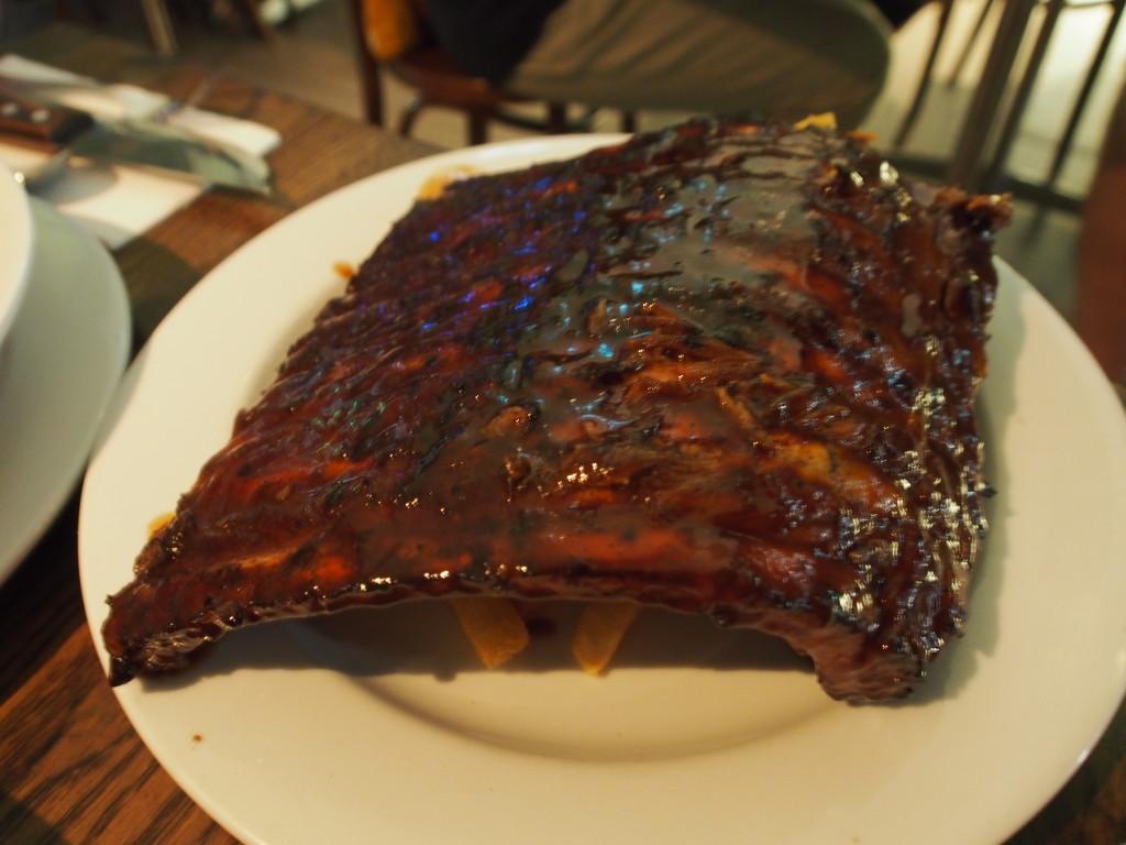 Pork ribs half slab.