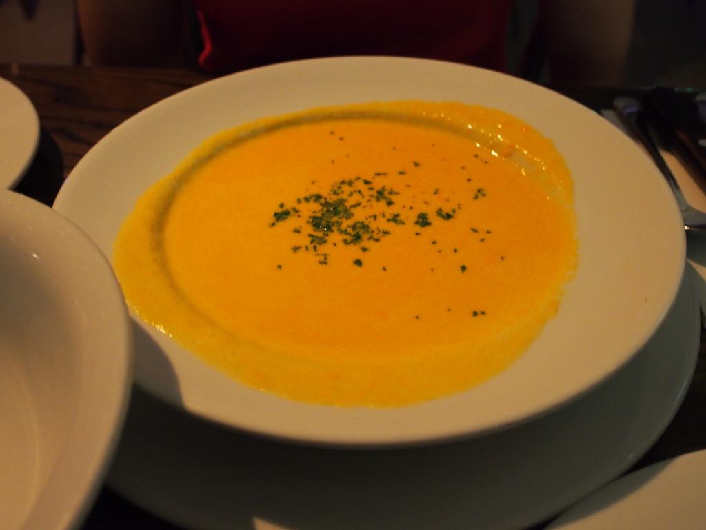 Carrot soup.