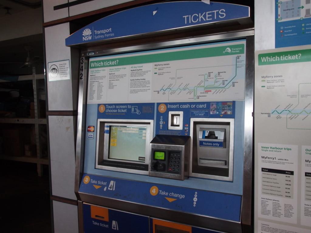 Ticket machine.