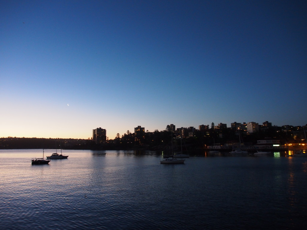 Twilight at Manly.