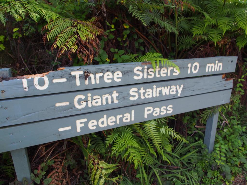 Walking signs for trekkers.
