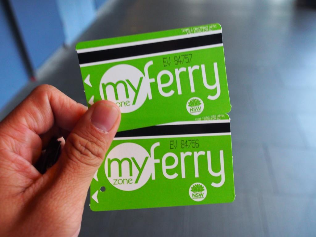 Ferry tickets.