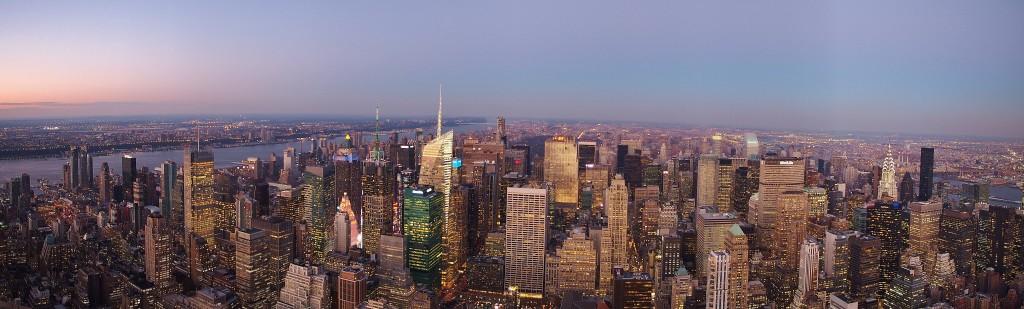 Panorama of Manhattan.