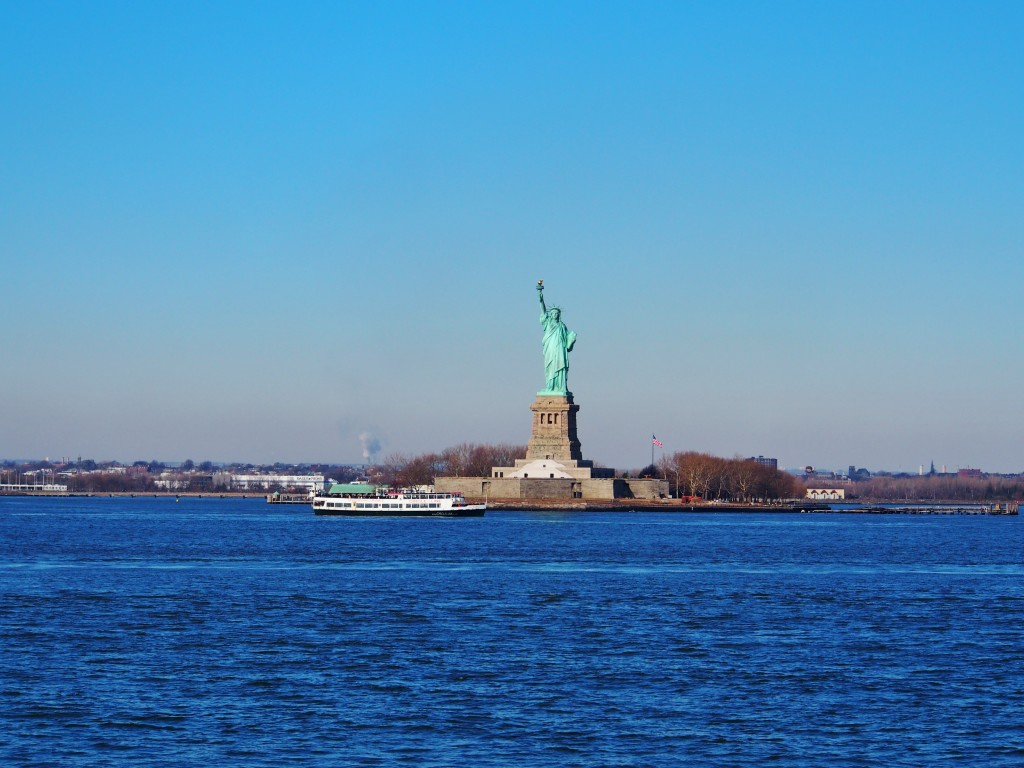 Statue of Liberty from afar.