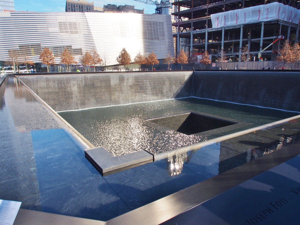 9/11 memorial. One of the 2 reflecting pool.