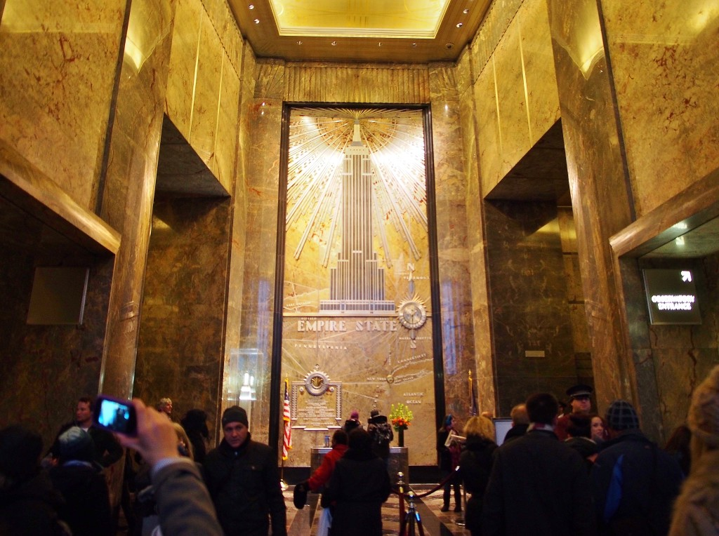 At the main lobby of Empire State Building.