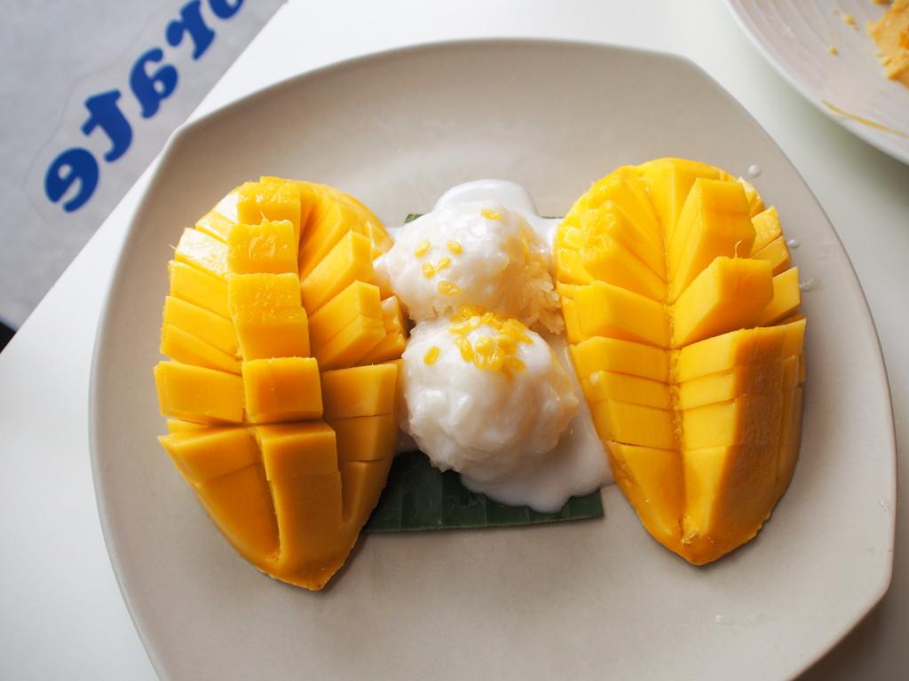 Mango sticky rice.