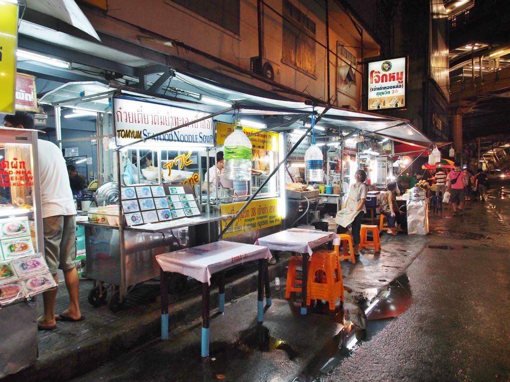 Food stall on the street.