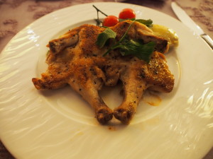 Spring Chicken as a replacement for seafood.