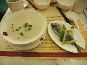 Tangerine peel congee with fish