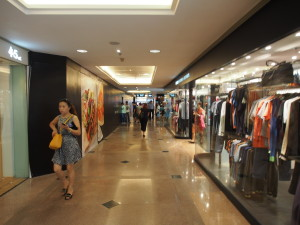 Inside Harbour City shopping mall.